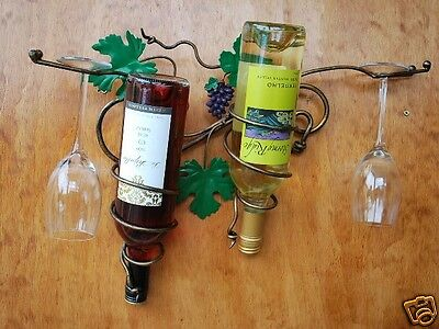 Hand Iron French Vintage GrapeVine Hanging Wine Rack