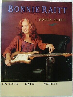 BONNIE RAITT Souls Alike RARE New PROMO On Tour Poster JON CLEARY David Batteau