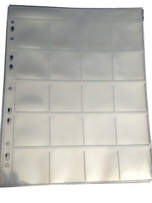 Coin Storage Album Pages 20 Section Multi Punched Pack of 10