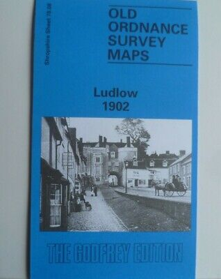 Old Ordnance Survey Detailed Maps Ludlow Shropshire 1902  Godfrey Edition New