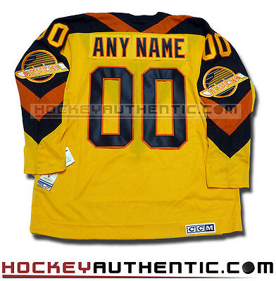 Vancouver Canucks Ccm Vintage Any Name & Number Jersey Gold 1982