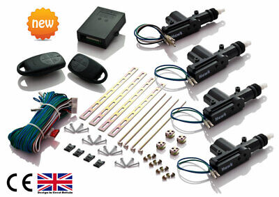 Universal*remote* Keyless Central Door Locking Kit + Free 1 Spare Battery Uk