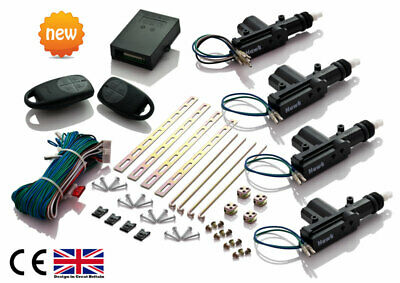 Universal*remote* Keyless Central Door Locking Kit + Free Splice Connectors Uk
