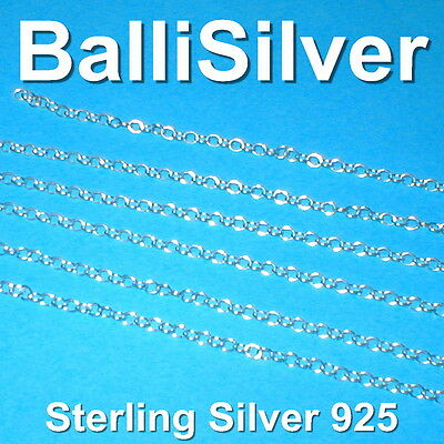 5 feet Sterling Silver 925 OVAL ROLO Cable CHAIN 2.5x3mm - BULK Continuous Chain
