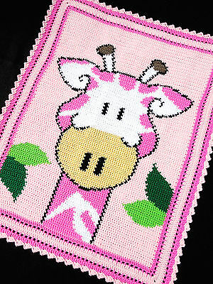 Crochet Patterns - GIRAFFE Zoo/Safari Color Graph BABY GIRL AFGHAN Pattern