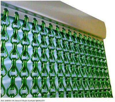 EU Metal Chain FLY Pest INSECT DOOR SCREEN CURTAIN Control ALL GREEN Extra LONG