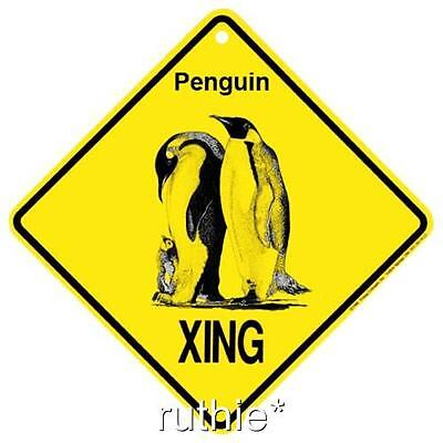 Penguin Crossing Xing Sign New Made in USA Happy Feet