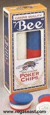 Las Vegas Casino Bee Premium Clay Poker Chips WPT Cards
