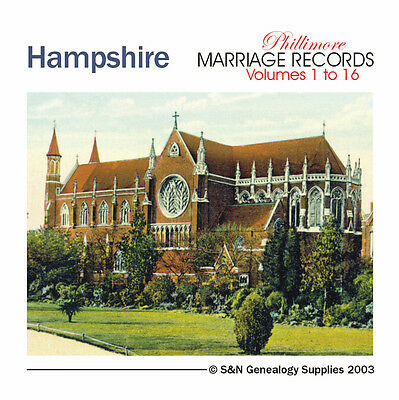 Hampshire Parish Registers - Complete Phillimore Marriage Records