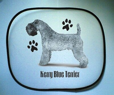 Kerry Blue Terrier Paws Design Printed Pair OF Car Side Window Sun Screens