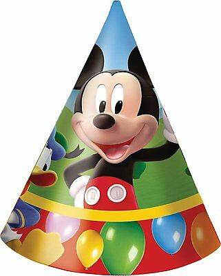MICKEY MOUSE PARTYTIME{A} 6 Party Hats {MMCH HT}