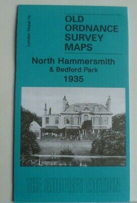 Old Ordnance Survey Map North Hammersmith & Bedford Park London 1935  S72 New