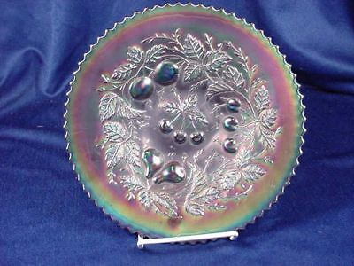 """NORTHWOOD AMETHYST CARNIVAL 3 FRUITS 9"""" COMPOTE BASKETW"""