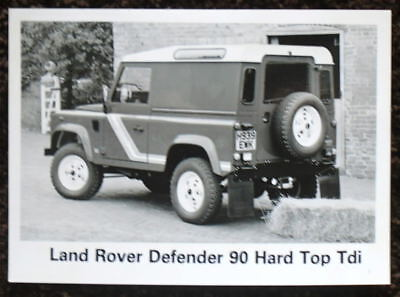 Land Rover Defender 90 Hard Top Tdi Press Photograph Black & White 1990 - 1991