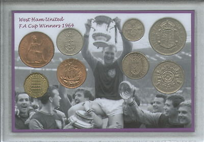 West Ham United Utd Vintage Bobby Moore F.A Cup Final Winners Coin Gift Set 1964