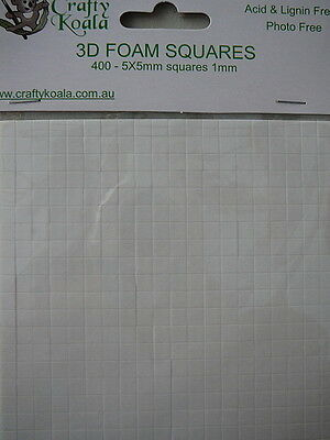 3D Foam Squares for Scrapbook & Card Making 1 mm thick