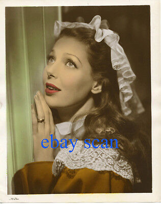 LORETTA YOUNG Vintage Original Photo COLOR GLOSS Story of Alexander Graham Bell