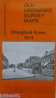 Old Ordnance Survey Maps Chingford Green Essex 1914 Sheet 69.14 Godfrey Edition