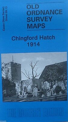 Old Ordnance Survey Maps Chingford Hatch Essex 1914 Godfrey Edition New