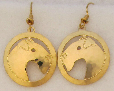 Lakeland Terrier Jewelry Gold Dangle  Earrings
