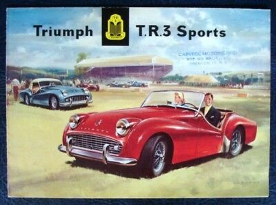 Triumph Tr3 Sports (Usa Edition) Sales Brochure October 1957.