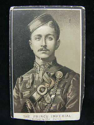 Napoleon Prince Imperial - c1879 Rare Memorial Card - Killed in the Zulu War