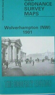 Old Ordnance Survey Maps Wolverhampton NW Staffordshire 1901 Godfrey Edition New