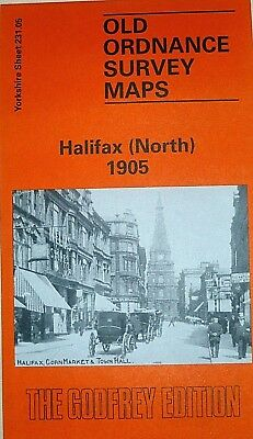 Old  Ordnance Survey Maps Halifax North Yorkshire 1905 Godfrey Edition New