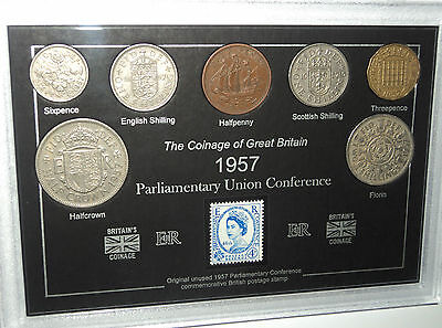Parliamentary Union Conference Coin & Stamp Collection Collector Gift Set 1957