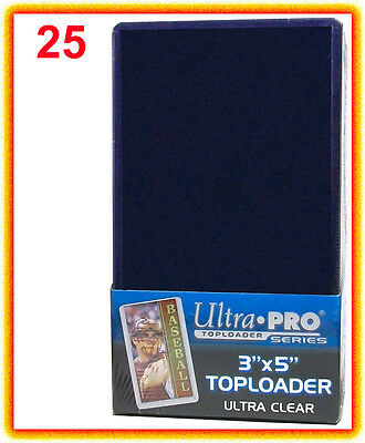 25 Ultra Pro PREMIUM Toploaders 3x5 Card Size TALL 3 x 5 Pack Top Loader 81182
