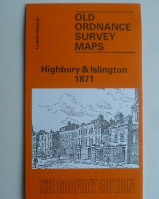 Old Ordnance Survey Detailed  Maps Highbury & Islington  London 1871  Sheet 39