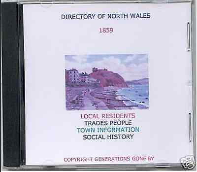 Genealogy Directory Of North Wales 1859 Cd Rom