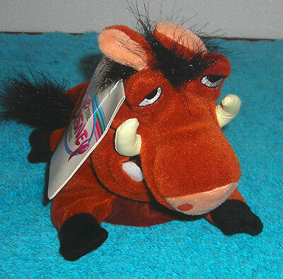 "Disney Store Exclusive Lion King Pumbaa 8"" Plush Bean Bag Toy New"
