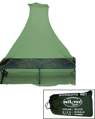 Olive Green Mosquito Insect Net - Camping - Army Style