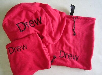 Horse Saddle cover Bridlebag & Free hatbag also EMBROIDERED FREE Red