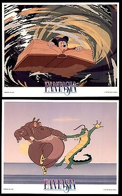 FANTASIA - 4 Original 8x10 Color Stills- 1990's - WALT DISNEY, MICKEY MOUSE