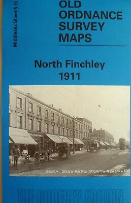 Old Ordnance Survey Map North Finchley Middlesex 1911 Sheet 6.16 New