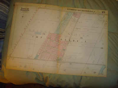 1931 Antique Brighton Monroe County New York Map Genesee Valley Riding Academy N
