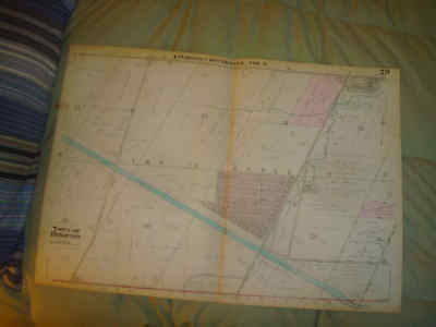 Huge 1931 Antique Brighton Monroe County New York Map Canal Barge Land Owners Nr