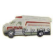 UNITED STATES FIRE SERVICE EMT RESCUE TRUCK PIN BADGE
