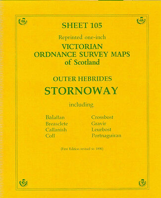 Map Of Outer Hebrides Stornoway Victorian Ordnance Survey