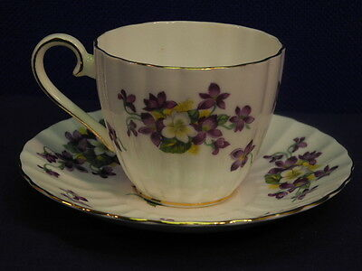 Royal Tuscan Fine Bone China WOODLAND VIOLET Cup and Saucer Set