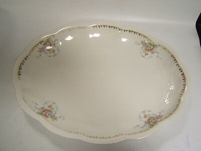 Edwin Knowles Vintage China Large Oval Platter Floral