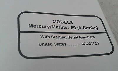MERCURY Mariner Outboards Factory Manual 50hp 4-Stroke 1994