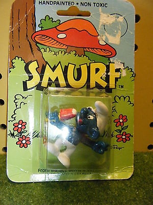 VINTAGE 1982 SCHLEICH PEYO POPSICLE SMURF FIGURE MOC  *NEW*