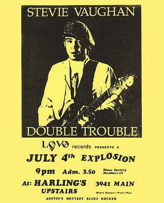 Stevie Ray Vaughan - Concert Poster, 8x10 Photo