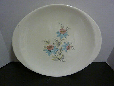 Vintage STEUBENVILLE Pottery 1950's FAIRLANE Pattern Oval Serving Plater Nice