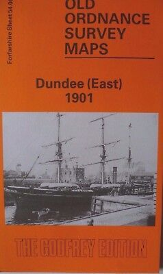 Old Ordnance Survey Detailed Maps Dundee East Scotland 1901 Godfrey Edition New