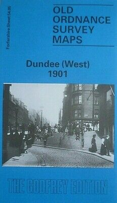 OLD ORDNANCE SURVEY DETAILED MAPS DUNDEE WEST SCOTLAND 1901 Godfrey Edition