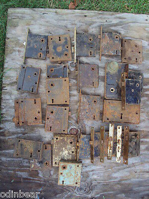 27 ANTIQUE DOOR LOCKS 1889 Russell & Erwin Yale Norwich